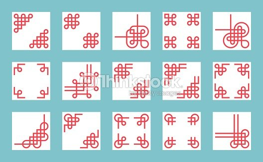 chinese knots border and frame for use in greeting card poster or chinese new year
