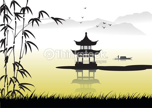 Chinese Landscape Painting Vector Art | Thinkstock