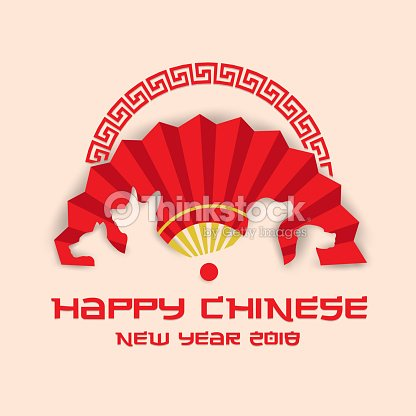 chinese new year 2018 dog year banner and card design illustration template vector art