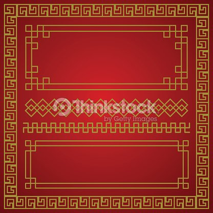 chinese new year border vector elements vector art