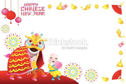 cny new year border