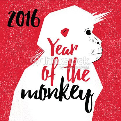 chinese new year monkeys vector art - Chinese New Year Of The Monkey