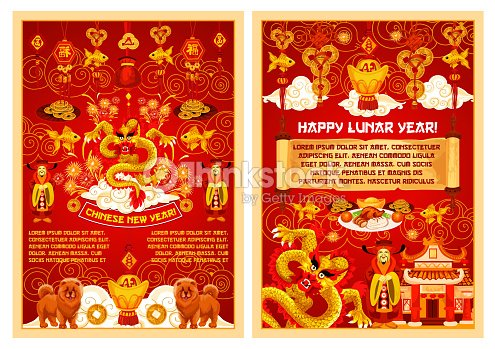 Chinese New Year Vector Symbols Greeting Card Vector Art Thinkstock