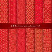 Chinese pattern set. Decorative background, come with layers.