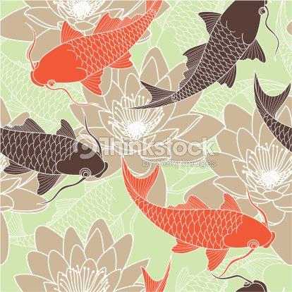 Chinois motif sans couture clipart vectoriel thinkstock for Carpe chinoise prix
