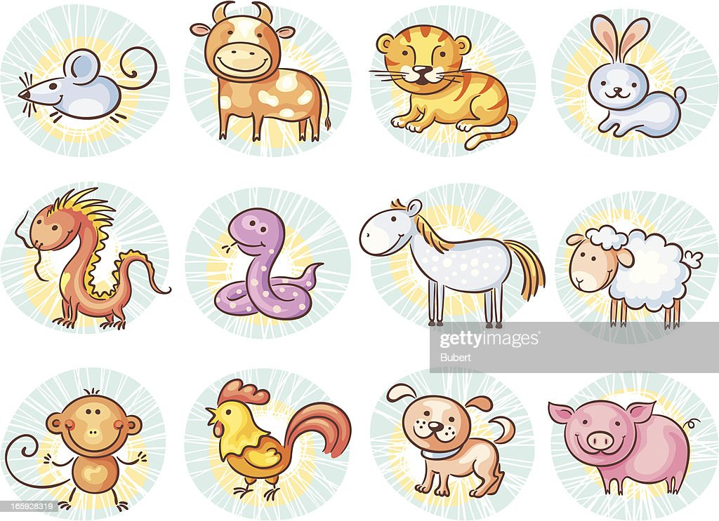 Chinese Zodiac Signs Vector Art   Getty Images