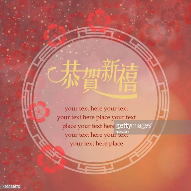 Nouvel an chinois message à repasser