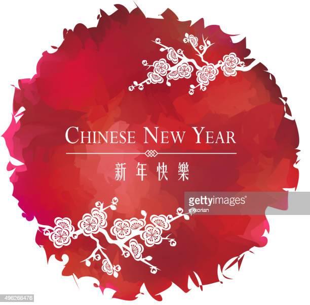 Fleur de prunier Chinesse Nouvel An