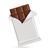Chocolate bar  isolated on white background