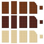 Chocolate bar isolated