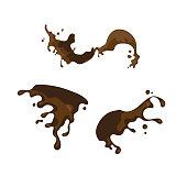 chocolate splashing design element