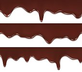 chocolate streams isolated on white