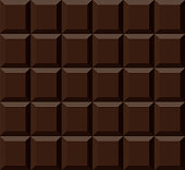 Chocolate texture. Chocolate bar. Realistic vector background.