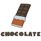 vector set of chocolate