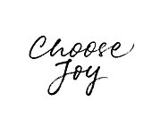 Choose joy phrase. Positive quote. Ink illustration. Modern brush calligraphy. Isolated on white background.