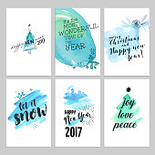 Watercolor vector illustrations for greeting cards, website and mobile banners, marketing material.