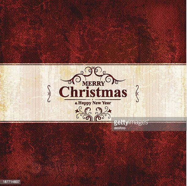 Christmas and New Year Label Greetings