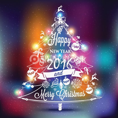christmas and new year label vector art
