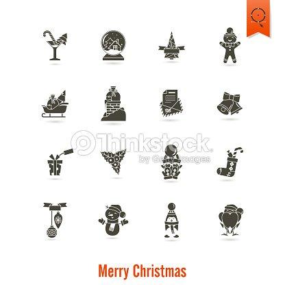 symbole f r weihnachten und winterkollektion vektorgrafik. Black Bedroom Furniture Sets. Home Design Ideas