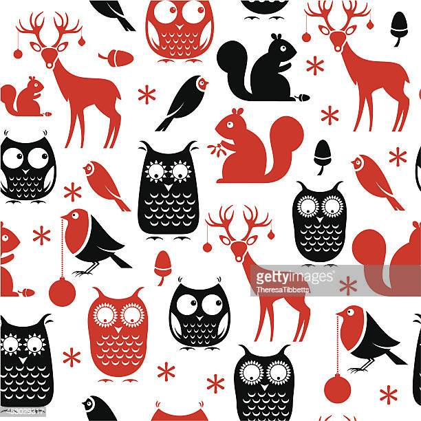 Christmas Animal Repeat Pattern