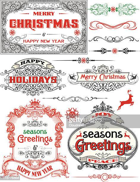 Christmas Antique Frame Labels