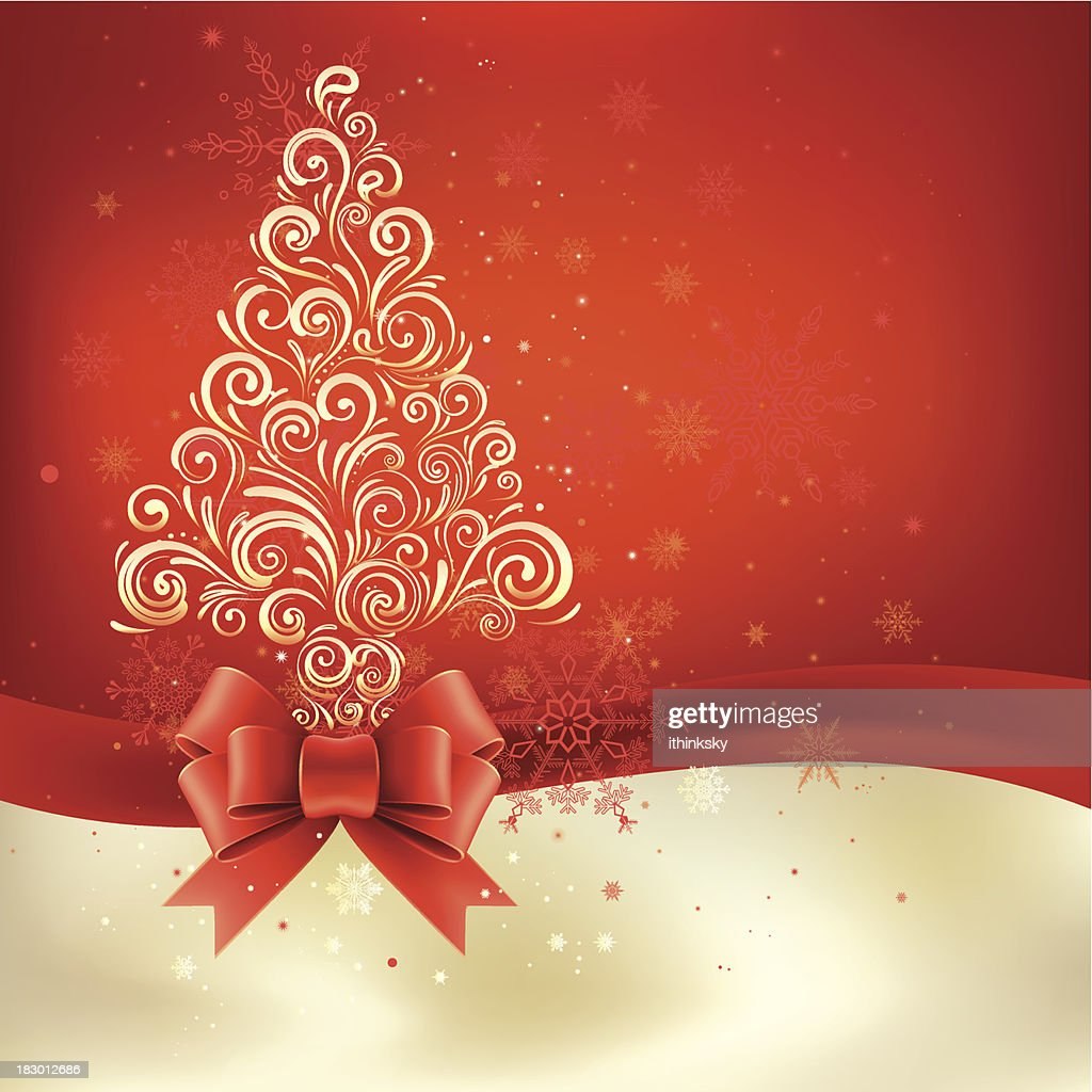 Christmas background with bow : Vector Art