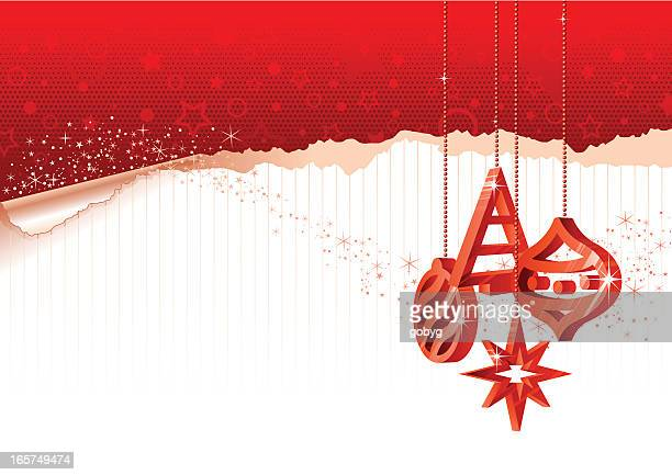 Christmas background with red ornaments