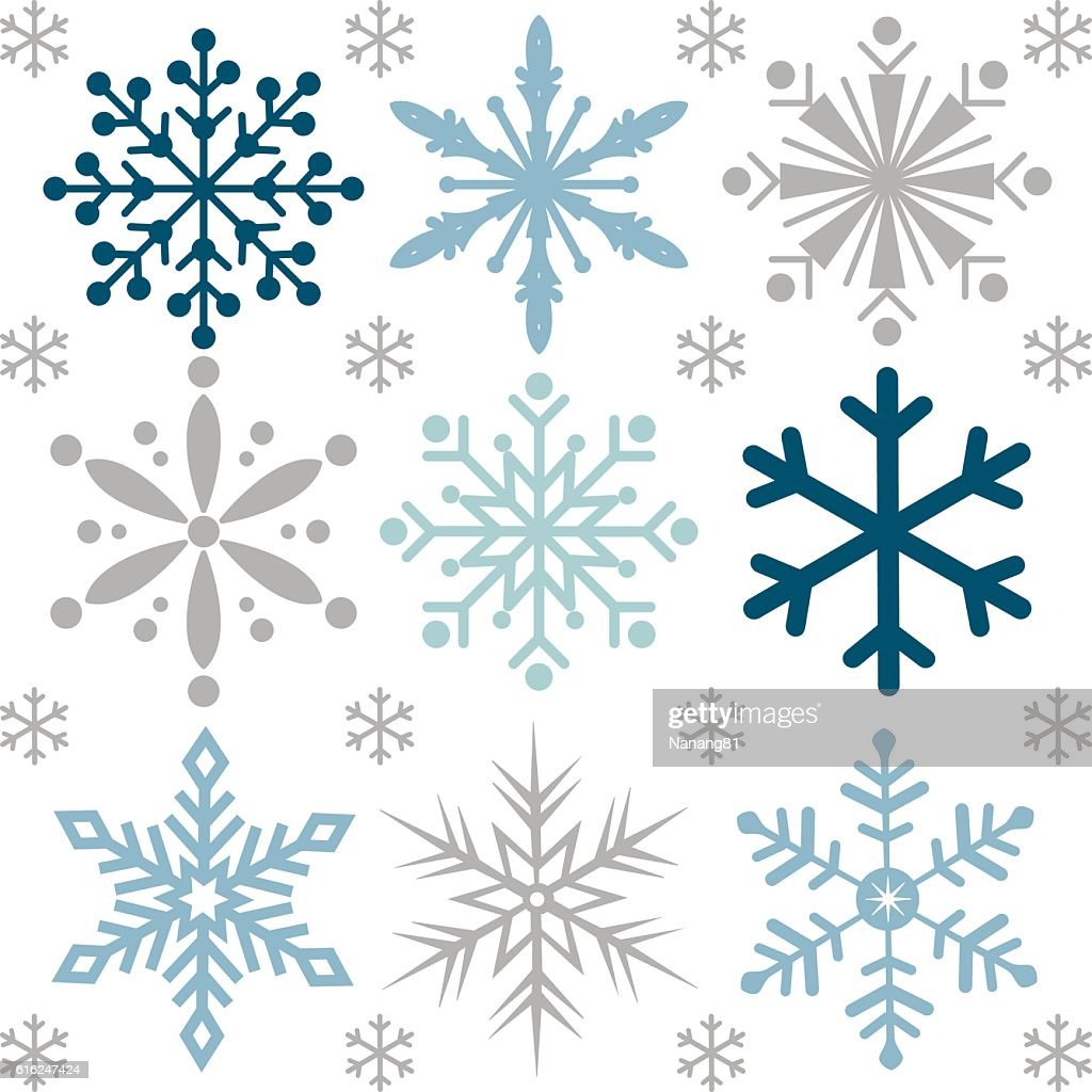 Christmas background with snowflake design : Vector Art