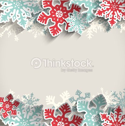 christmas background with snowflakes winter concept illustration