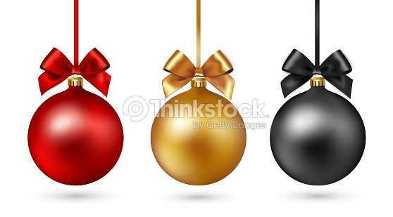 Christmas ball with ribbon and bow on white background. Vector illustration. : stock vector