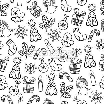 croquis no l noir et blanc illustration vectorielle motif sans couture tm clipart vectoriel. Black Bedroom Furniture Sets. Home Design Ideas
