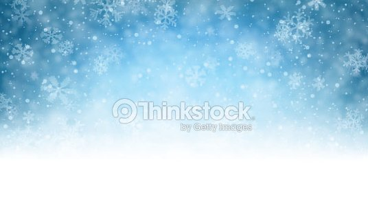Christmas Blue Background With Snow Vector Art Thinkstock