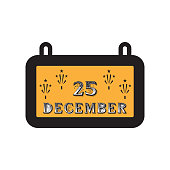 christmas calendar icon. Christmas or New Year element. Premium color graphic design. Signs, outline symbols collection, simple icon for websites, web design, mobile app on white background