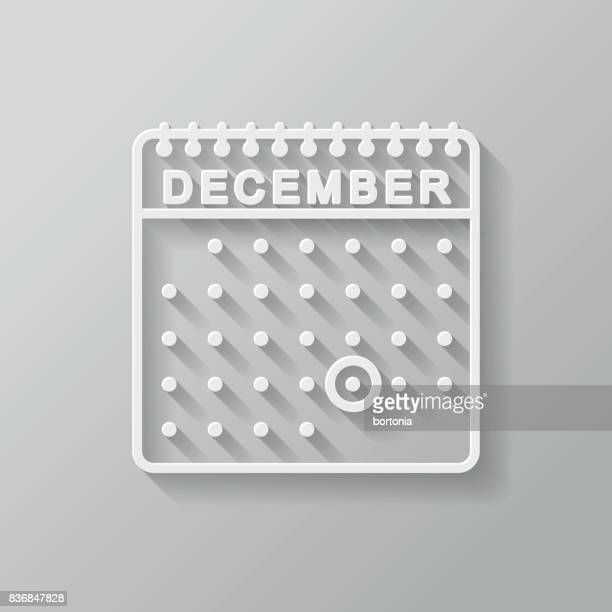 Christmas Calendar Thin Line Flat Design Icon