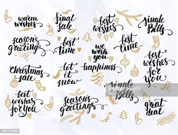 Christmas calligraphy set