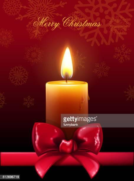 christmas candle ribbon