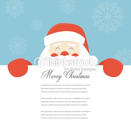 Christmas Card With Template Copy E Vector