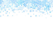 Christmas card with different snowflakes on top