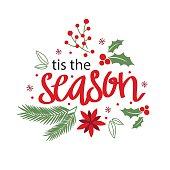 Christmas card with wreath design