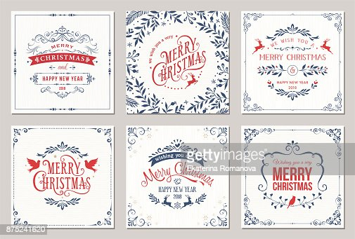 Christmas Cards : Arte vetorial