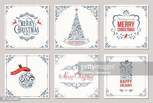 Weihnachten Cards_01 : Vektorgrafik