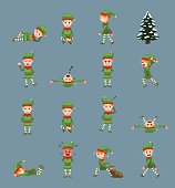 Christmas Character Various Poses EPS10 File Format
