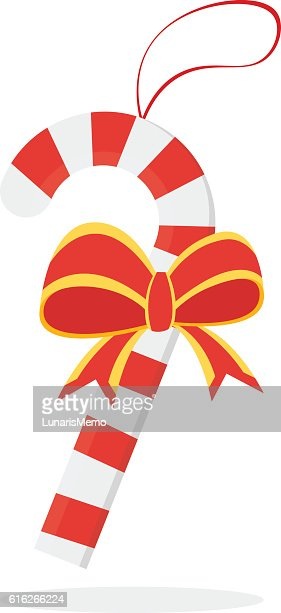 Christmas concept by Candy have a ribbon : Vector Art
