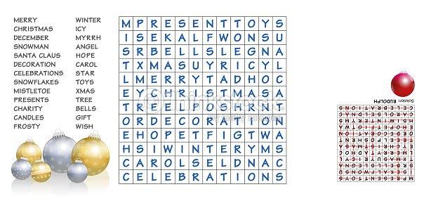 Kreuzworträtsel Weihnachten Finde Die Aufgelisteten Wörter In Das ...
