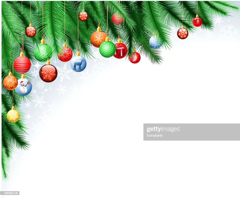 christmas decoration corner : Vector Art