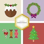 Christmas illustration set created in illustrator and easily editable.
