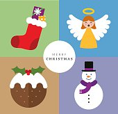 Christmas concept created in illustrator and easily editable.