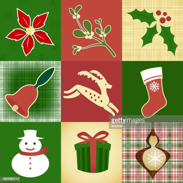 Christmas design elements and pattern