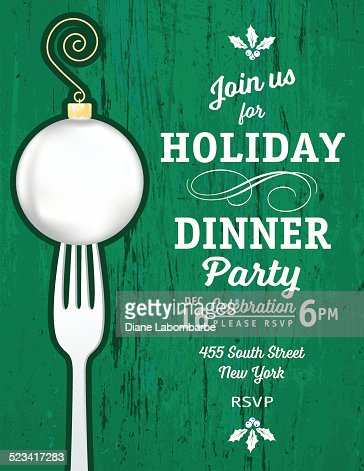 holiday dinner invitations template