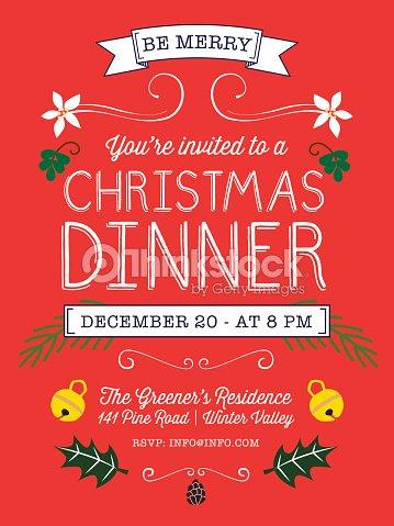 christmas dinner party flyer vector art thinkstock